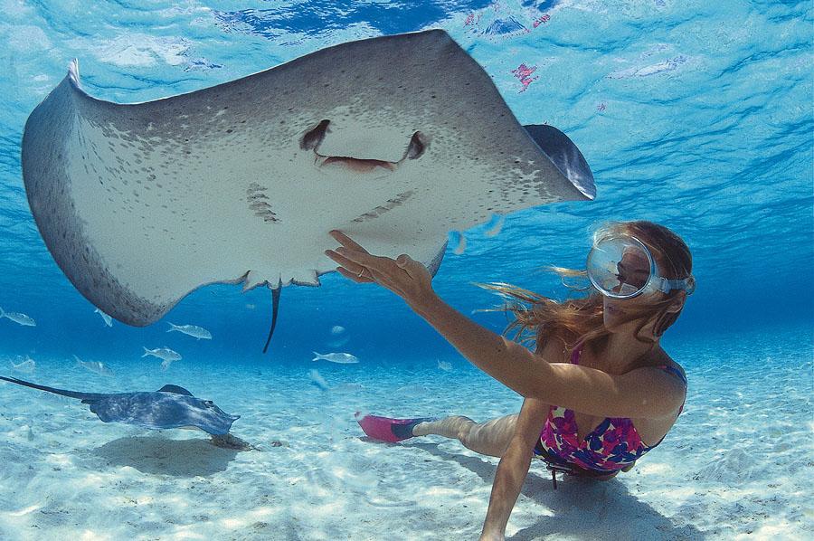 water sports like snorkling